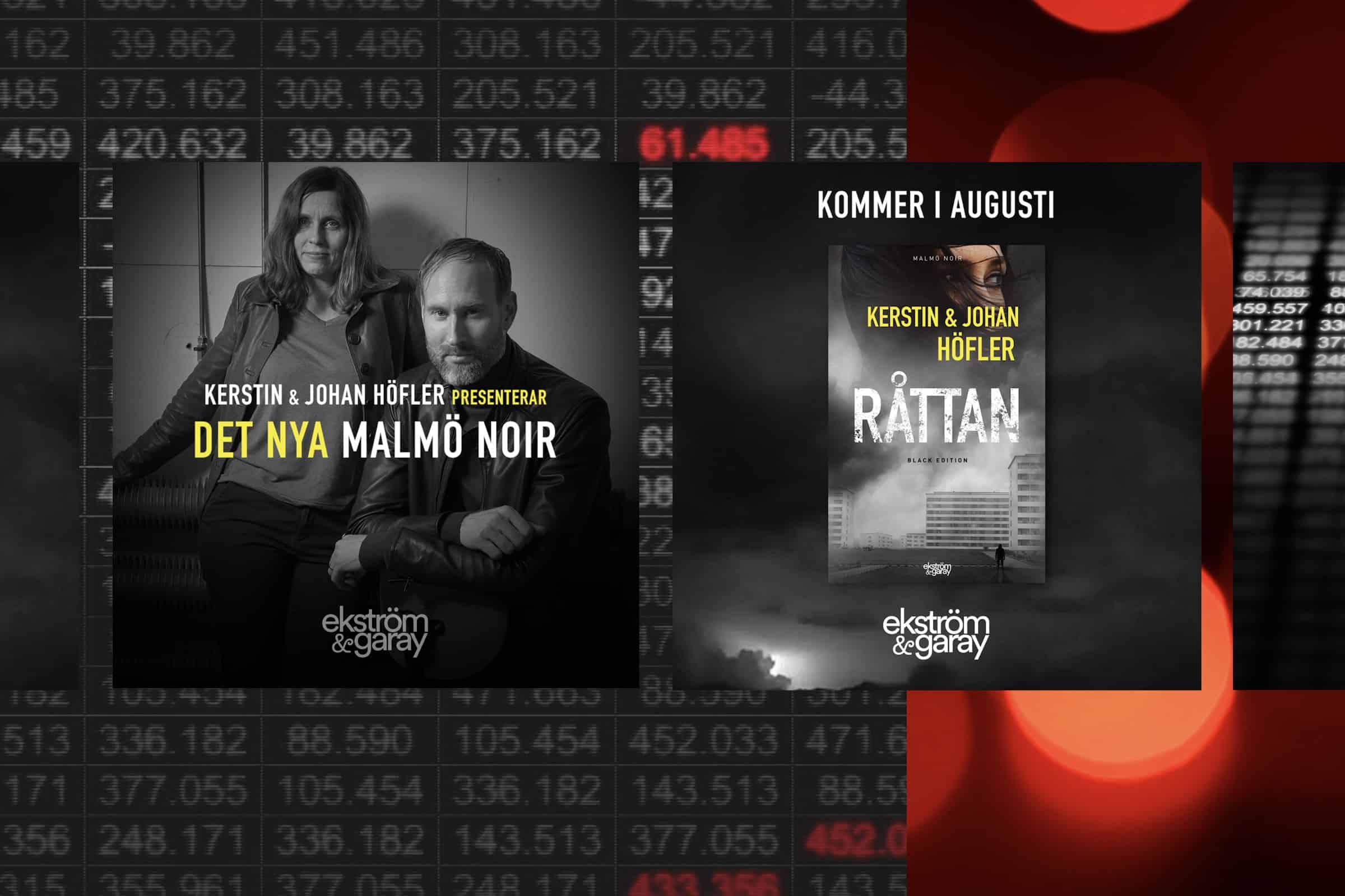 Bilder från boktrailern till RÅTTAN (Black Edition).