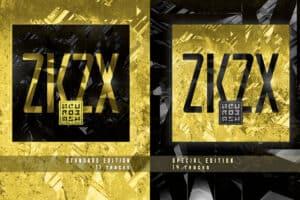 Skivomslag i gult och svart i två olika utförande åt bandet Neurobash. Mot en matchande grafisk bakgrund som ser ut som ett futuristiskt landskap eller något glittrande material.